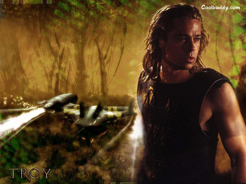 Brad Pitt Troy Movie Wallpaper 800x600