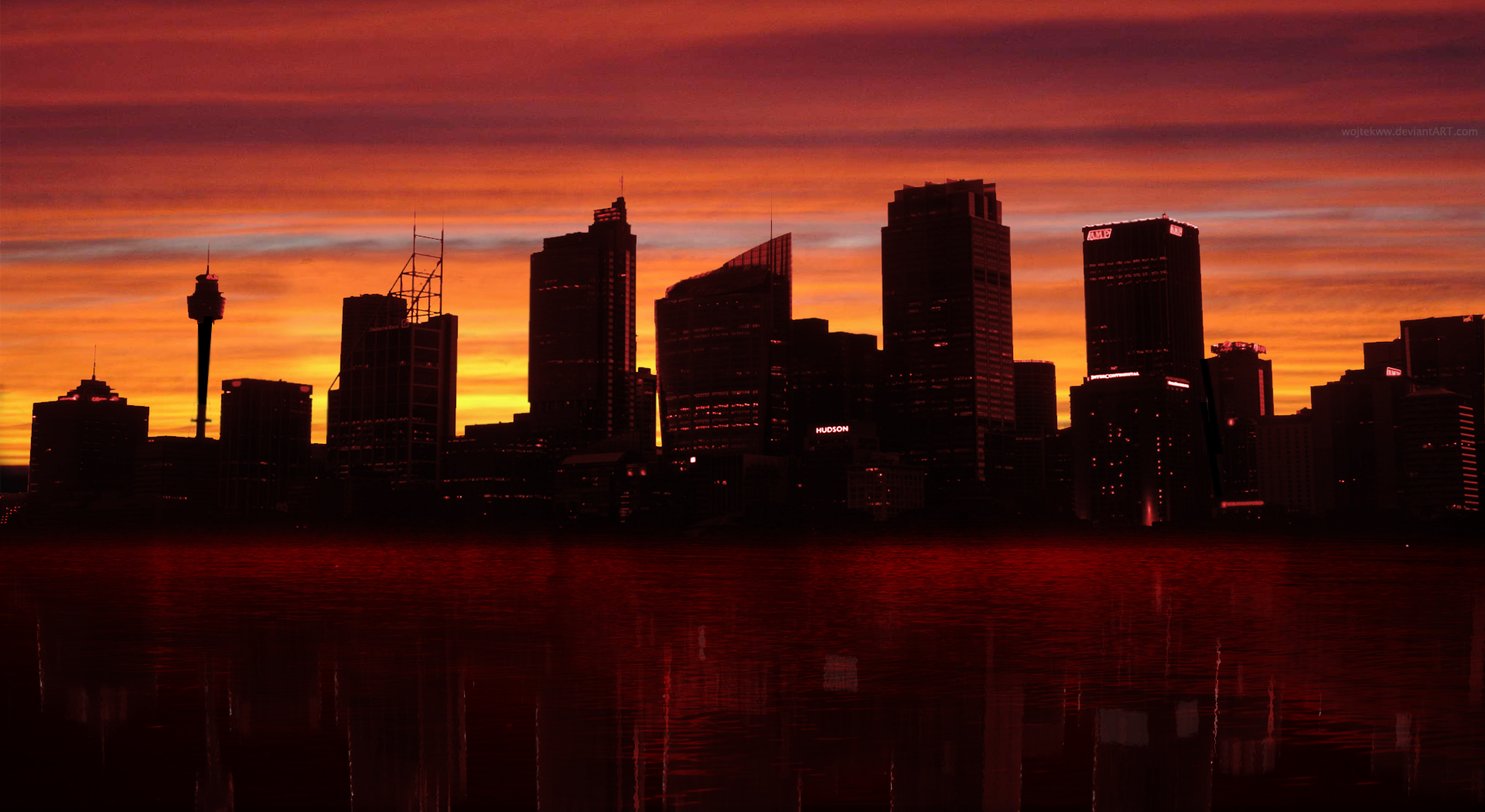 sunset cityscapes urban cities ua