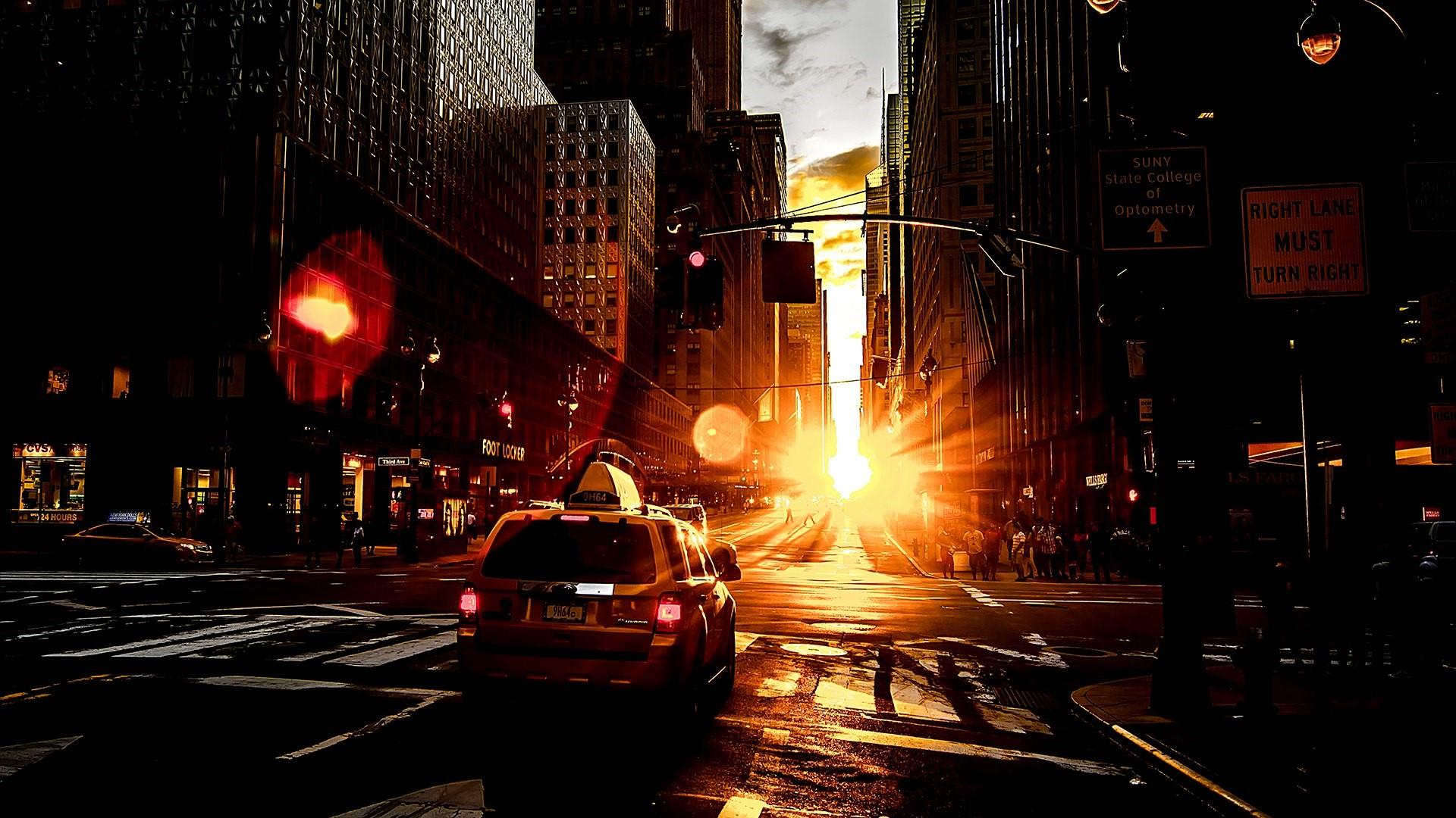 Taxi Cab In The Sunset Wallpaper Wallpaper Studio  Tens of