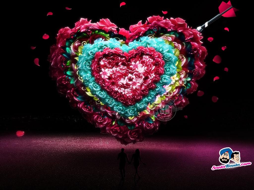 Wallpaper Gerbera Flower Heart Valentines day HD