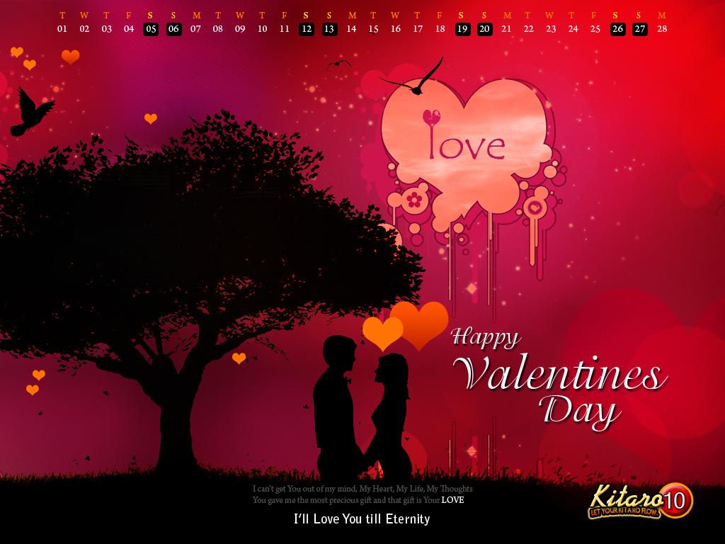 Valentines Day HD wallpaper Glamsham 1024x768