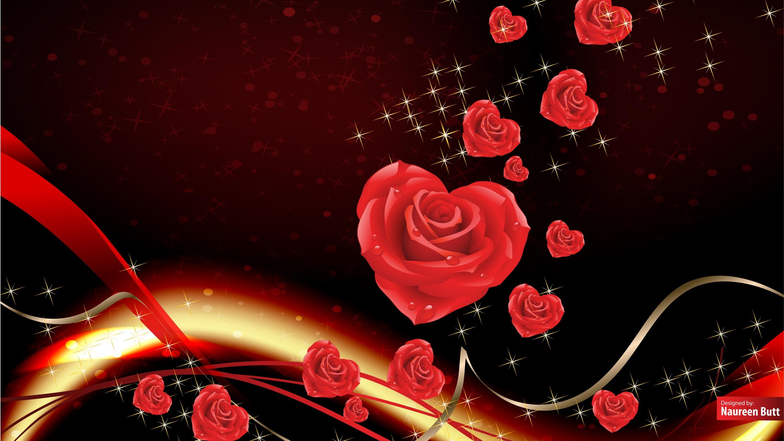 Free Valentine Backgrounds Desktop Wallpaper 2560x1440