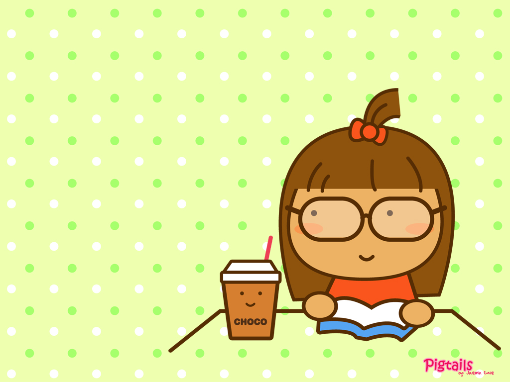 Cute Cartoon Girl Wallpaper For Desktop Laptop Mobile 1024x768