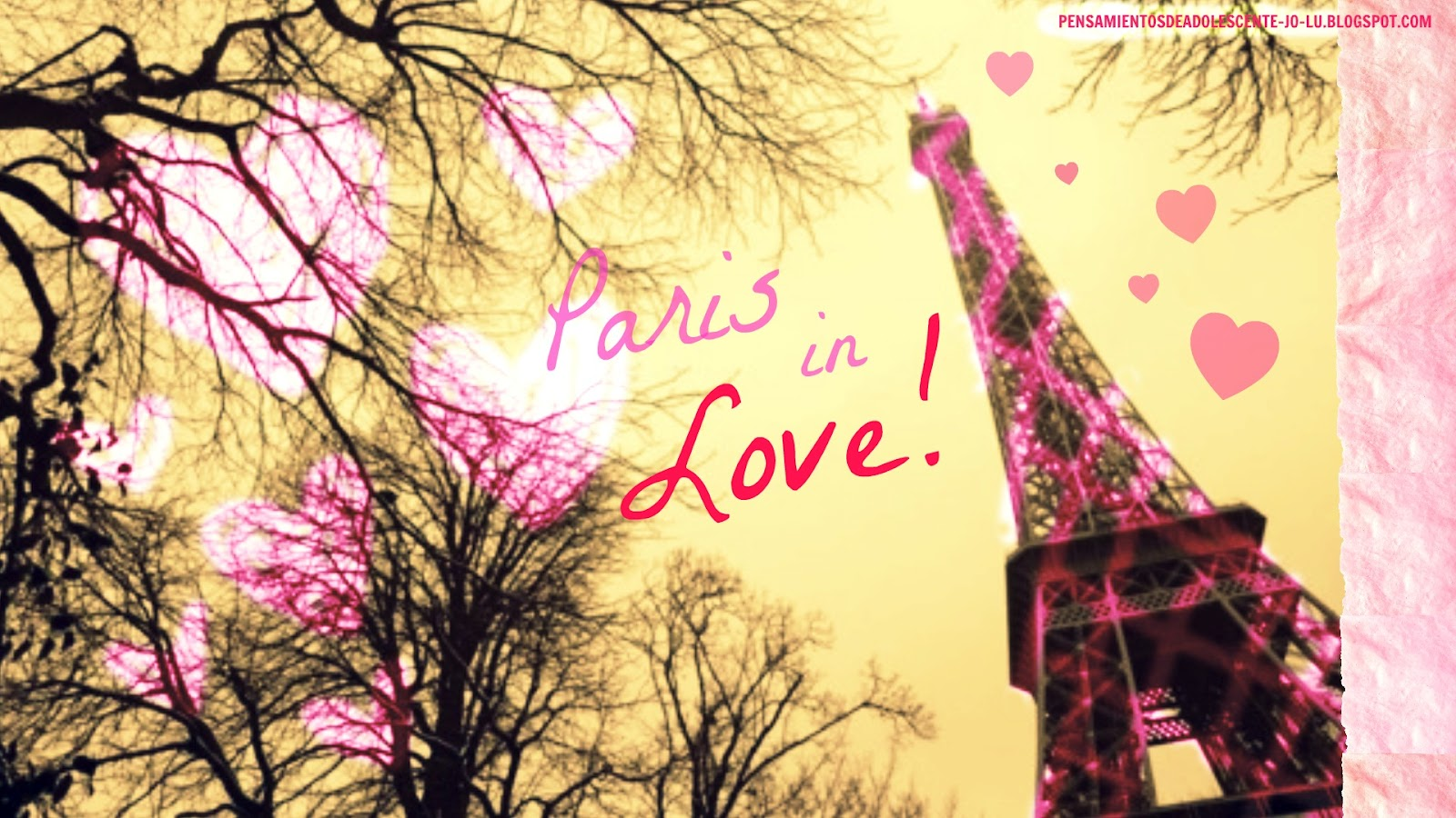 Wallpaper paris cute