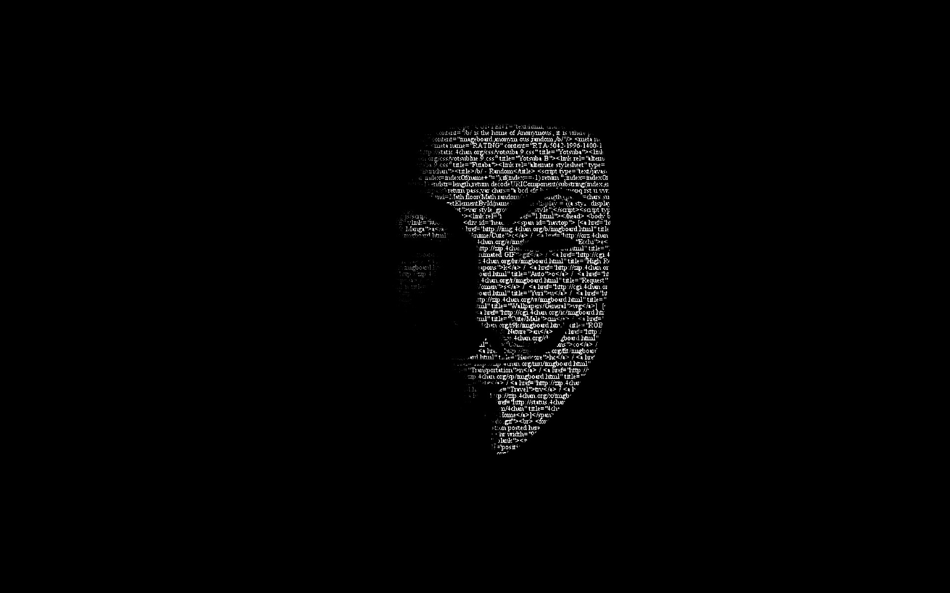 Anonymous IPhone Wallpaper IPod HD Free Download 1920x1200