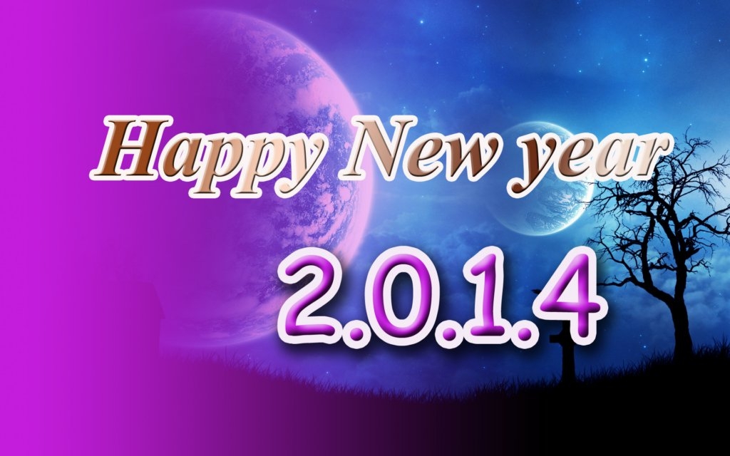 Happy New Year Wallpaper Free Download 1024x640