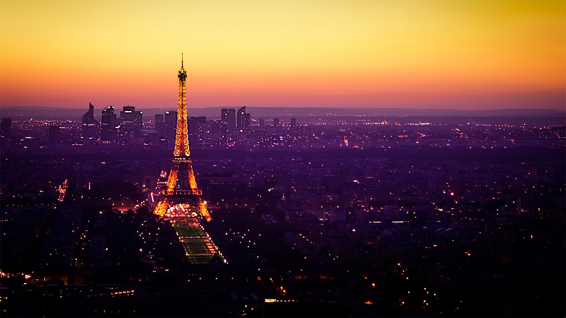 Eiffel tower sunset wallpaper