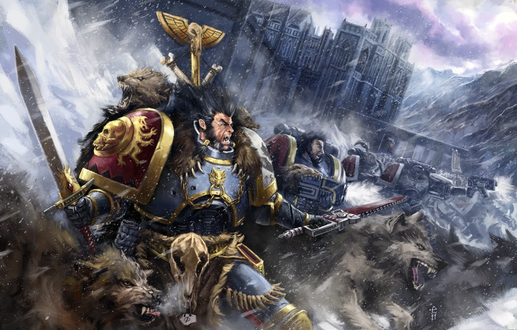 Image Grey hunters space wolves by  Warhammer k