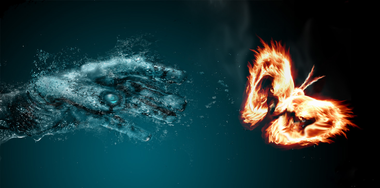 Water Fire Spray Smoke Wallpapers  Full HD Backgrounds 1467x727