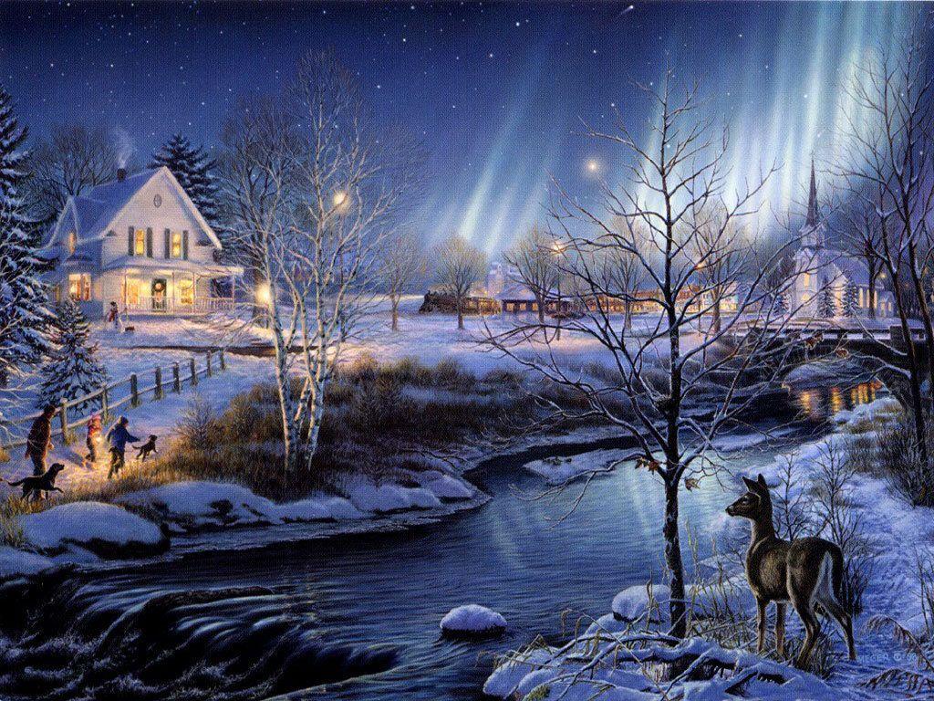 Winter Scenes For Desktop Backgrounds Wallpapers 1024x768