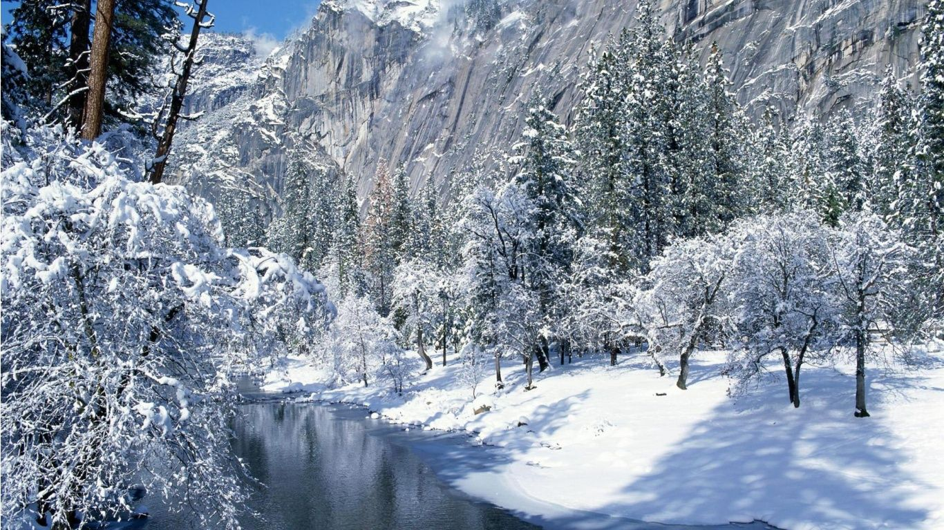 Christmas winter scenes desktop wallpaper 1366x768 voltagebd