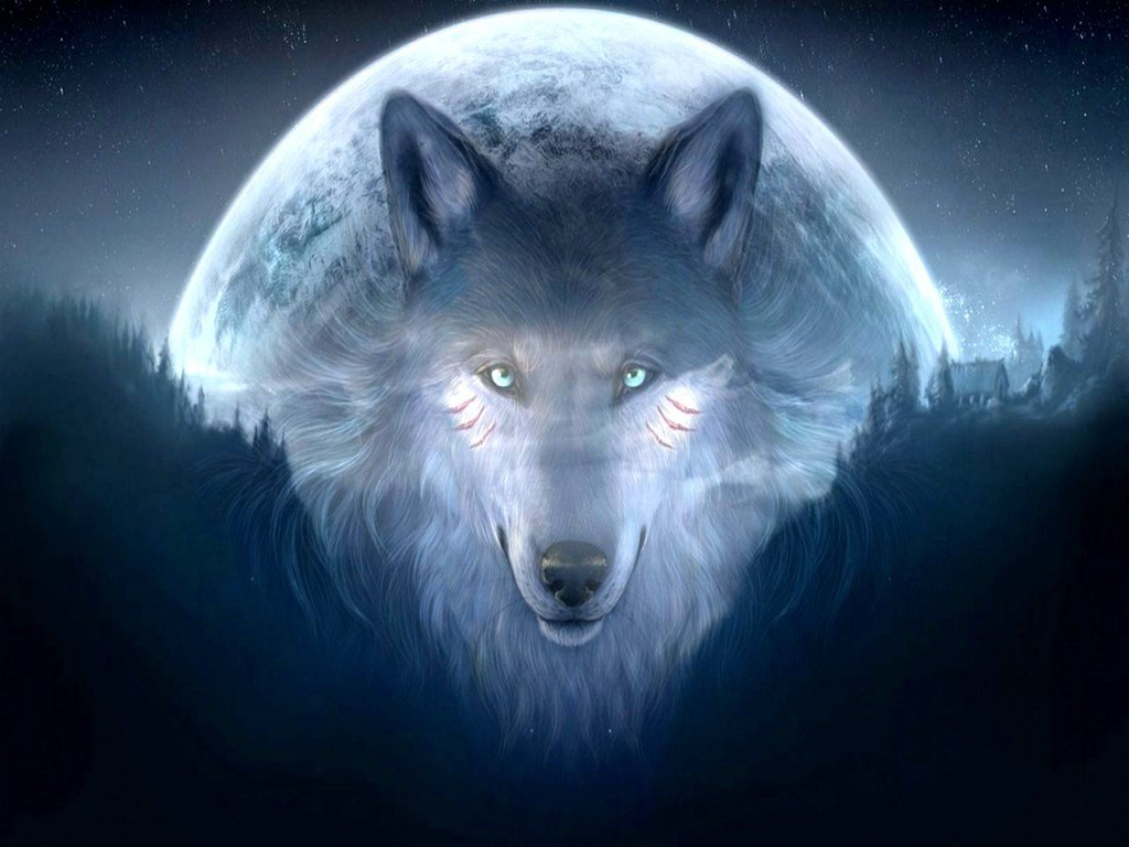 Wolf Galaxy Wallpaper Download Free Cool Wallpapers Red Awesome S 1024x768