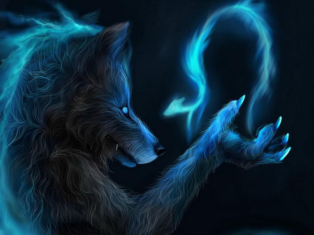 D Wolf Wallpaper Download Dark Best 1024x768