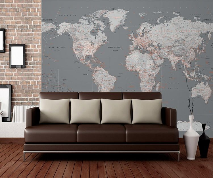 Vintage world map wall mural 750x625 gumiabroncs Choice Image