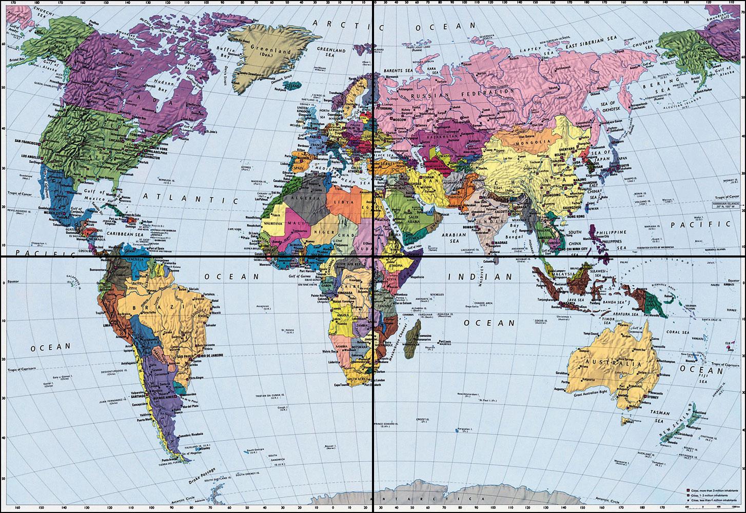 World map wallpaper murals wallpaper 1454x1000 gumiabroncs Images