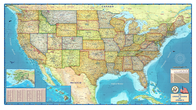 Download World Political Map HD Wallpaper