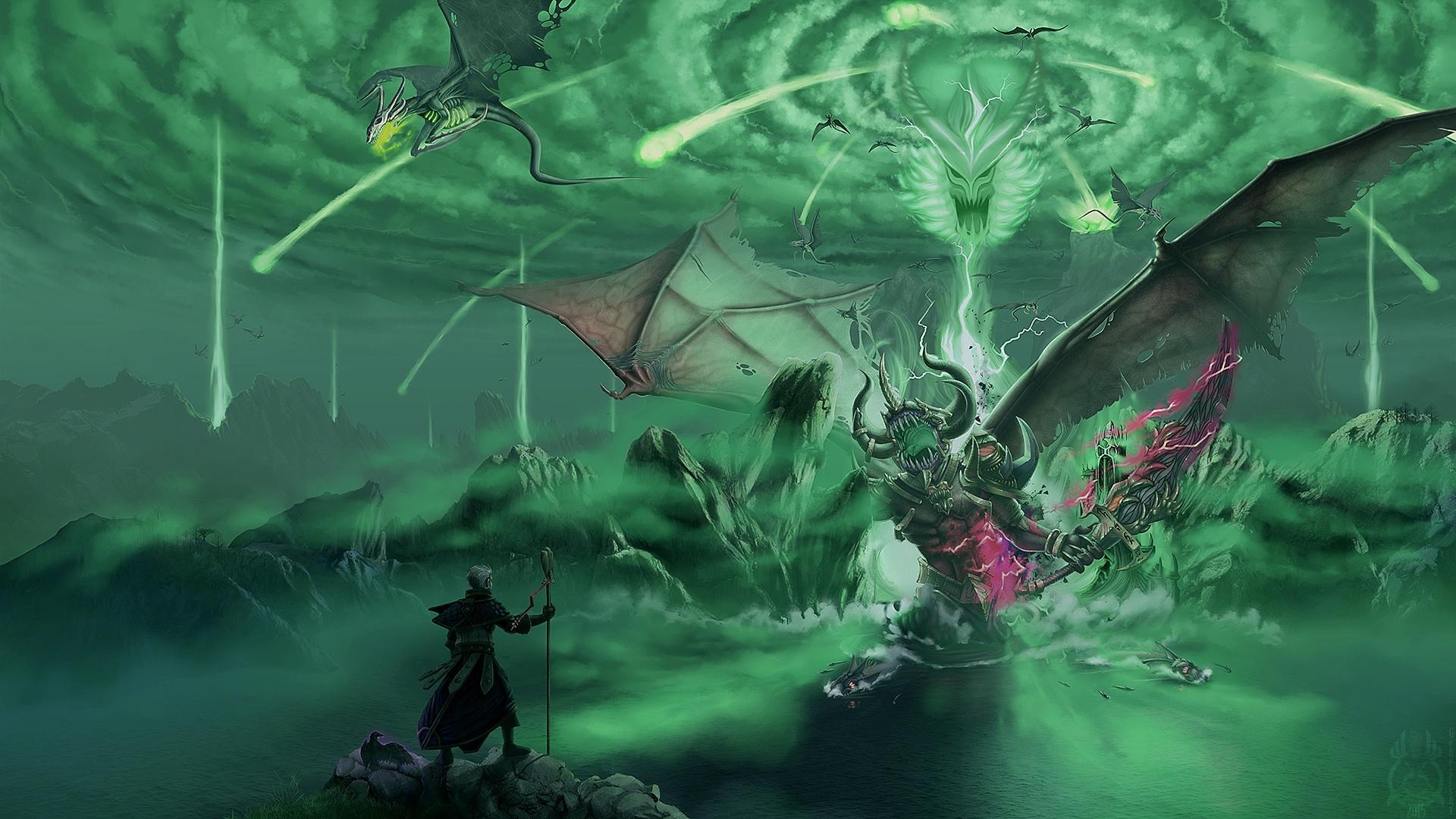 World Of Warcraft Legion Demon Hunter Best Wallpaper 1920x1080