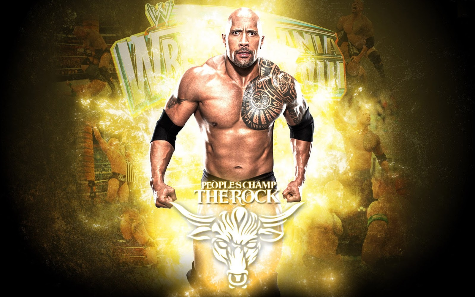 WWE The Rock Dwayne Johnson HD Wallpapers For Desktop 1600x1000