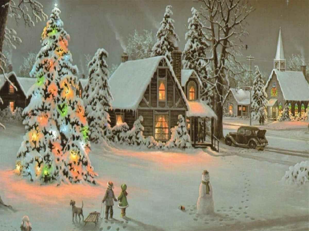 Classic Christmas Tree Hd Desktop Wallpaper Widescreen High 1200x900