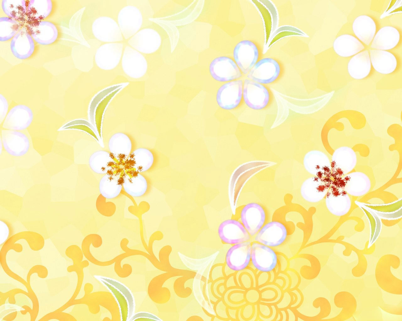 Yellow Style Flower Background Vector Vector Background Free 1280x1024