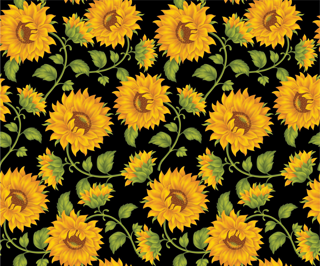 Yellow Sunflower Background  Public Domain Art and Free Vintage 1280x1065