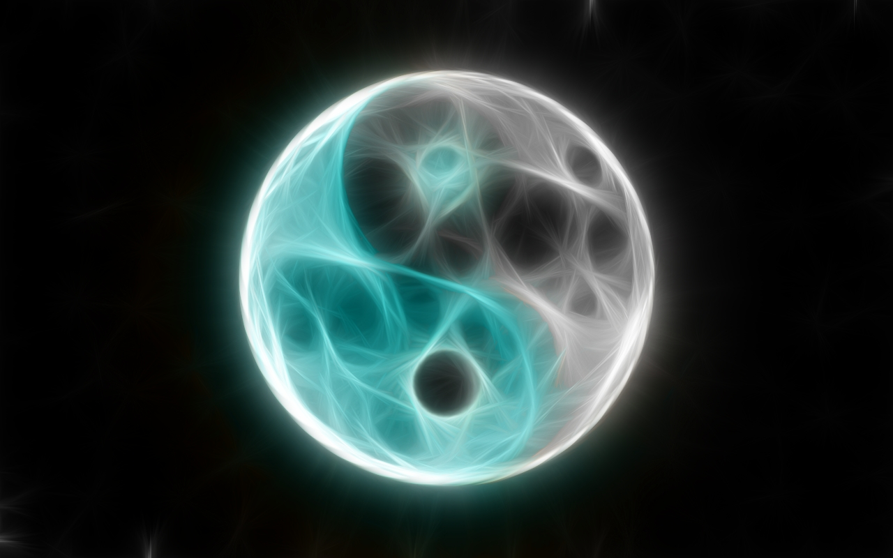 yin yang hd wallpaper 1280x800