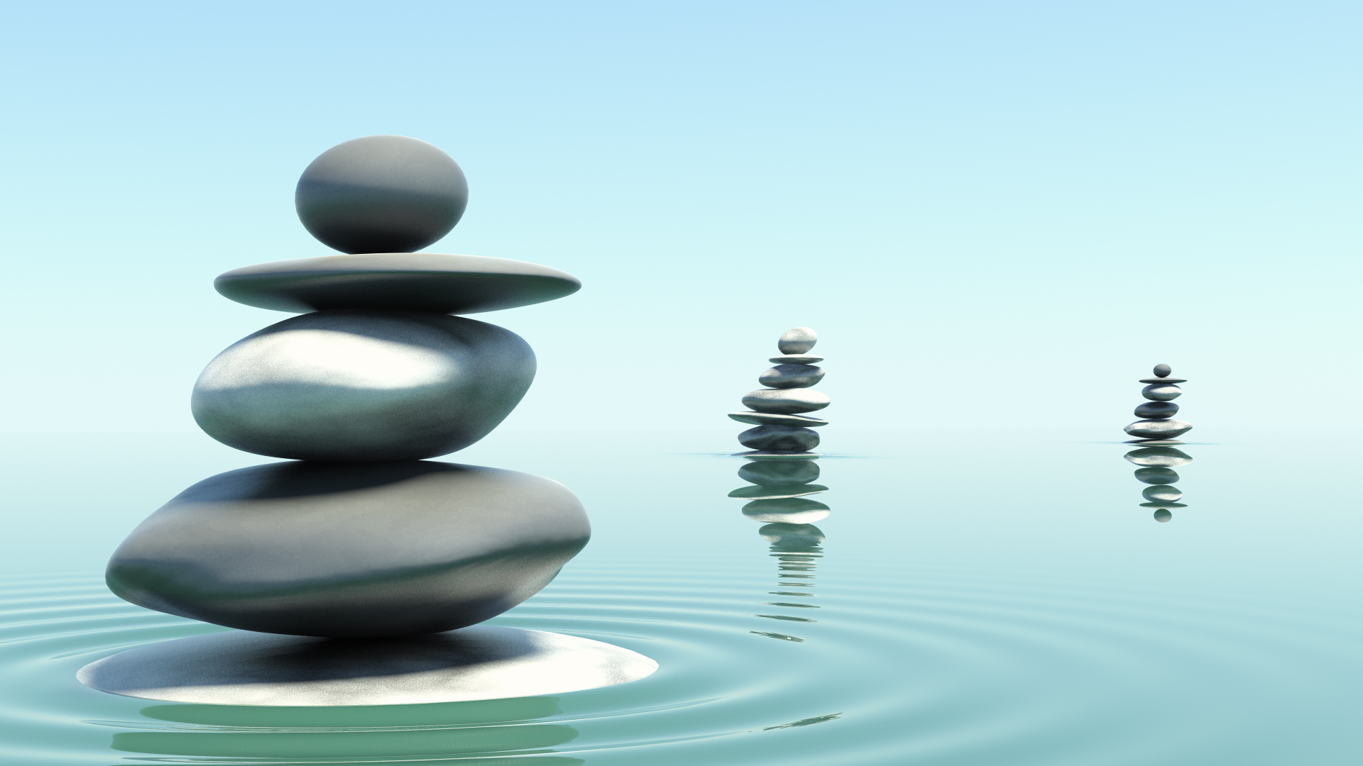 Zen Stones In Water Photographic Print By Fphotos At AllPosters Spirale Stone HD Desktop Wallpaper High