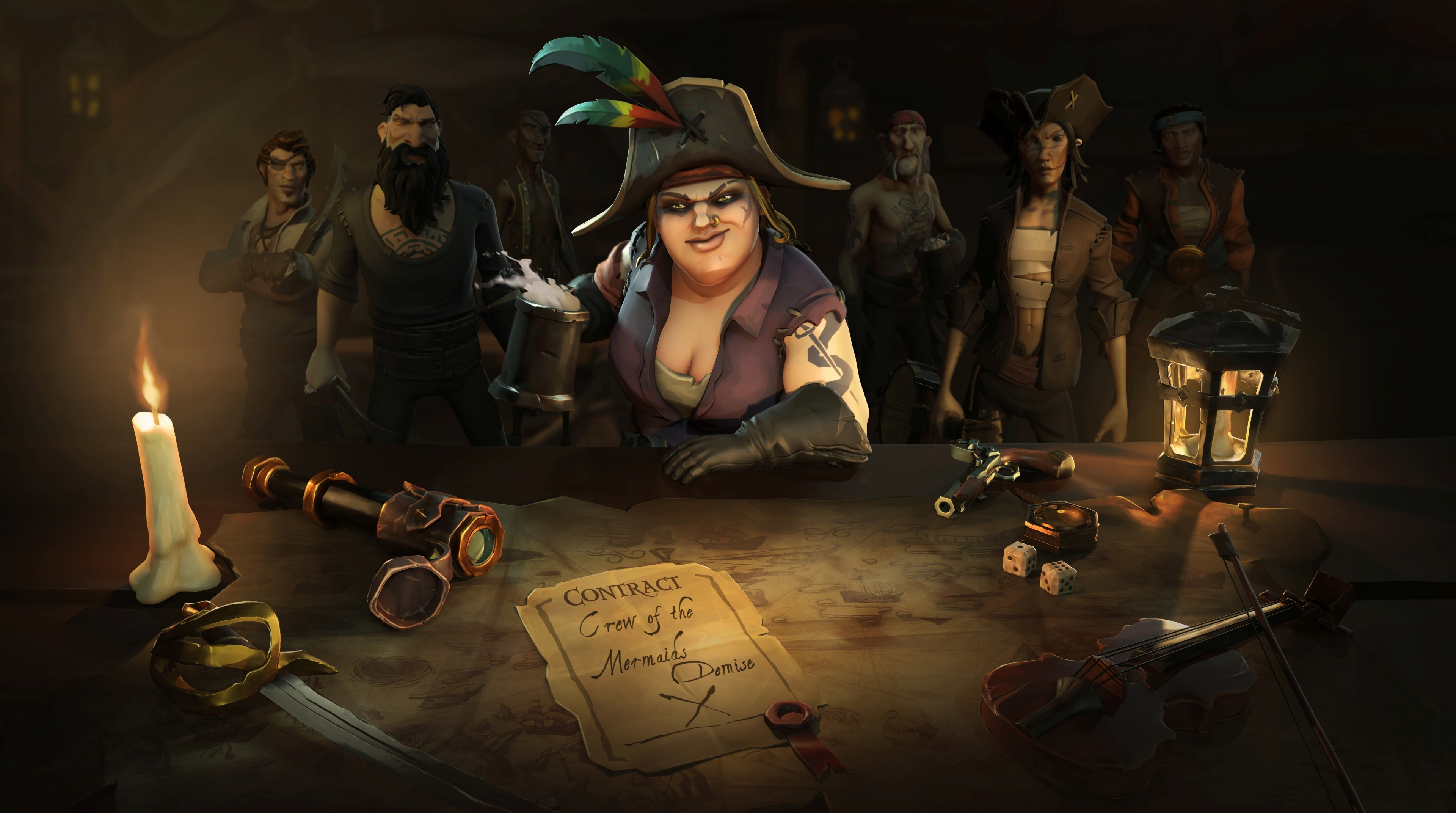 x sea of thieves k new wallpaper in
