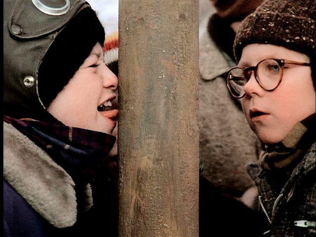 A Christmas Story Kid Tongue Pole