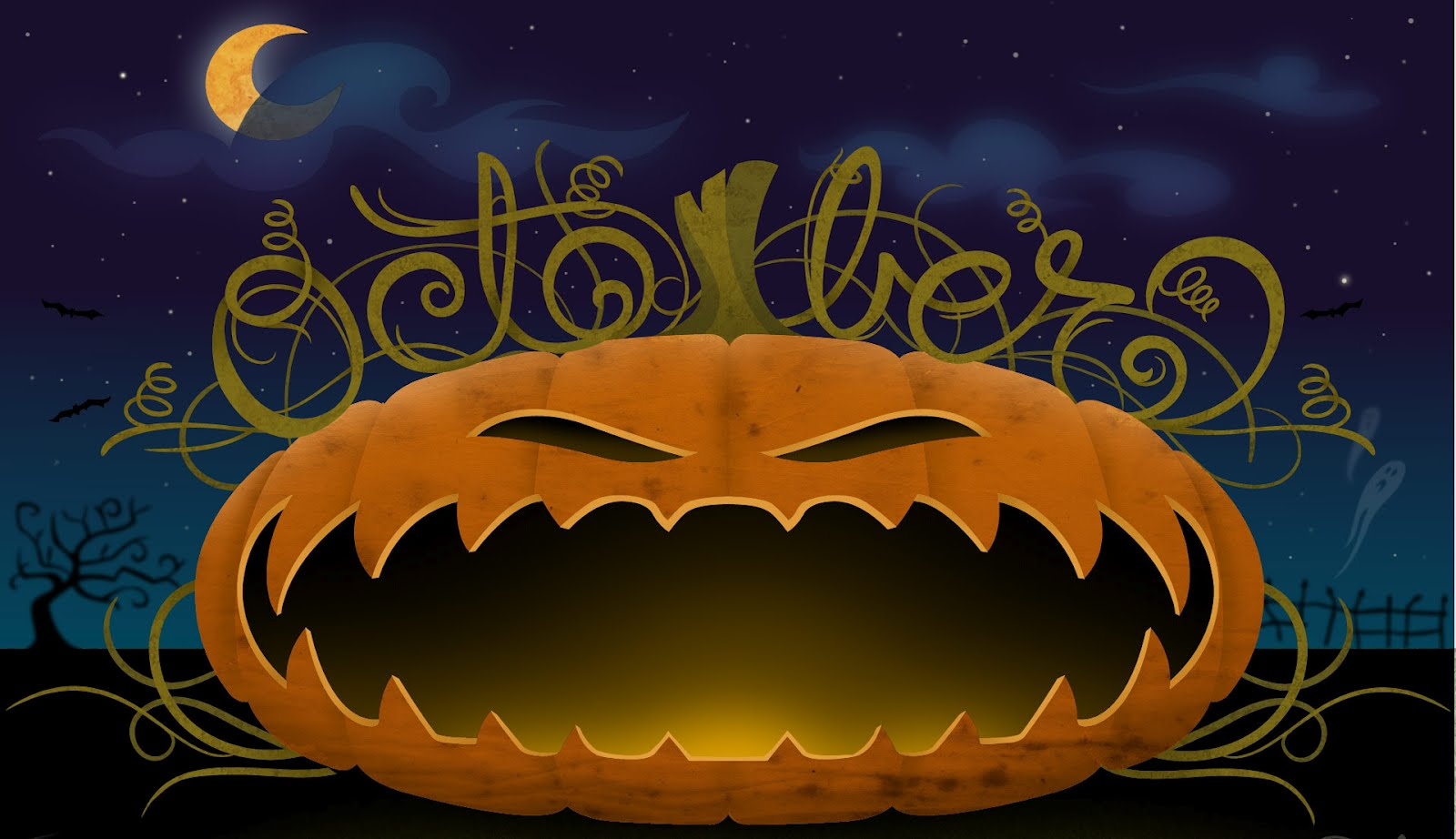 Halloween Animated with Sound Wallpapers 1600x922