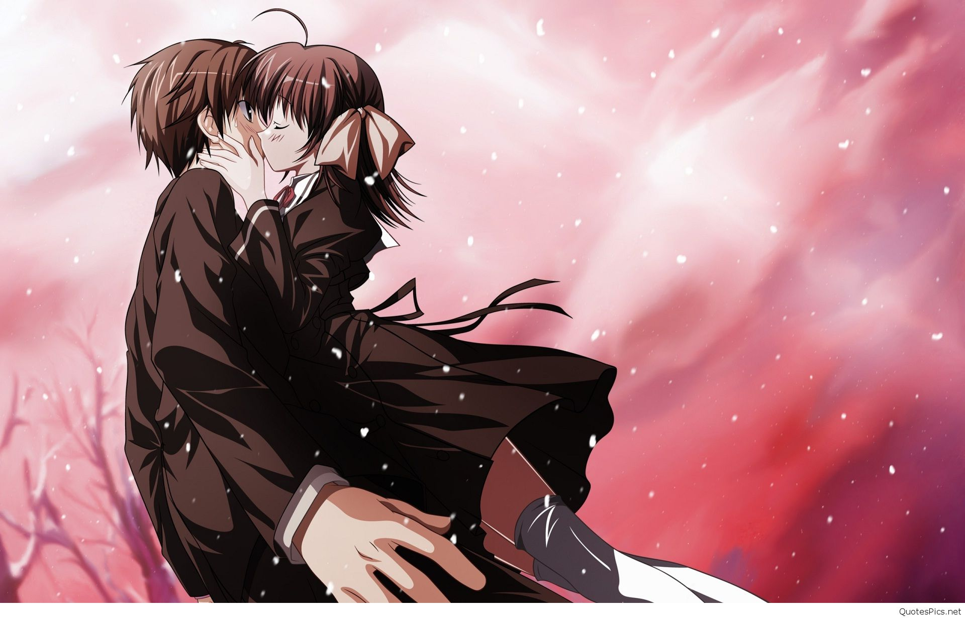 Cute Anime Couple Wallpaper 1920x1230