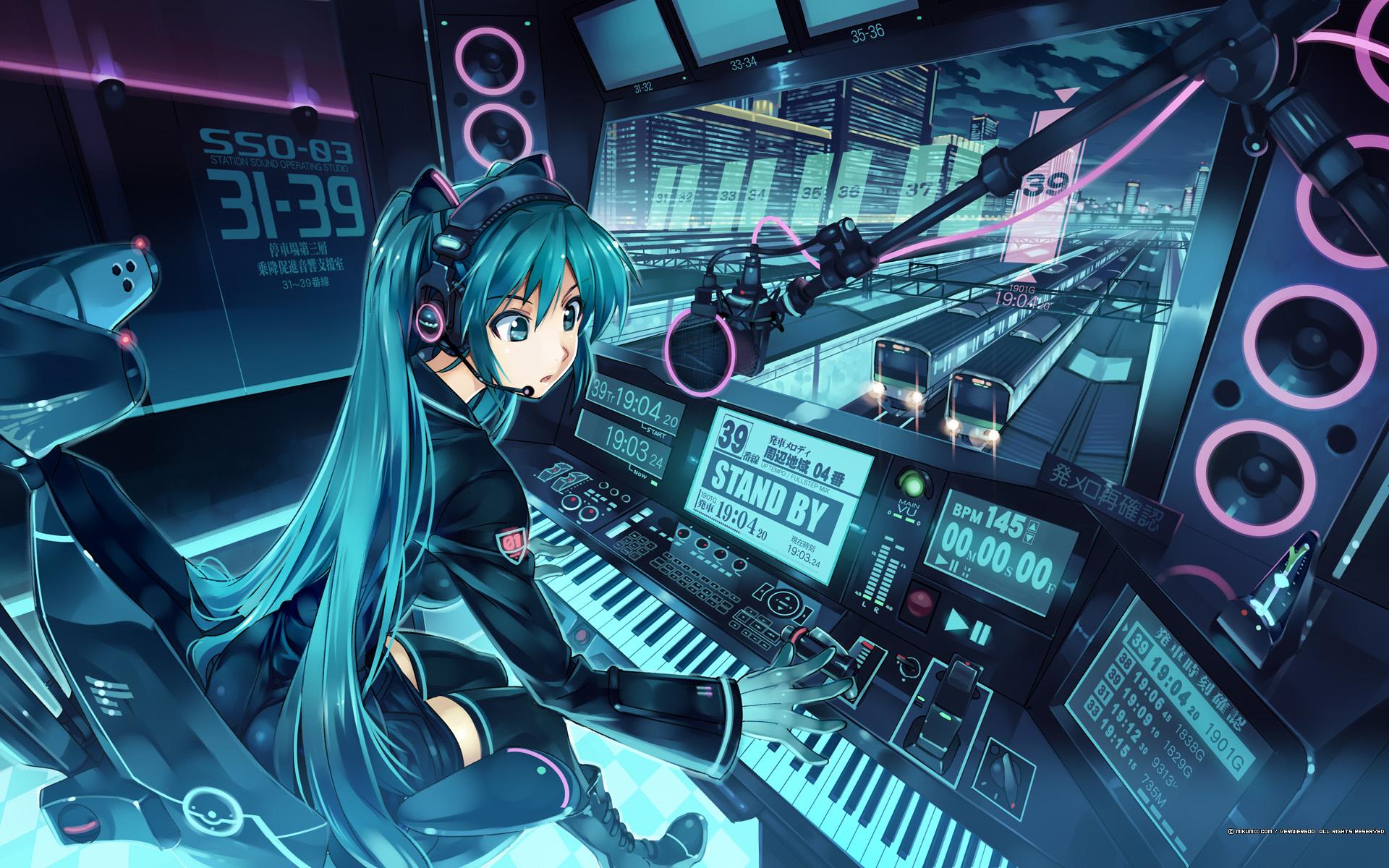 Anime Headphones Girl