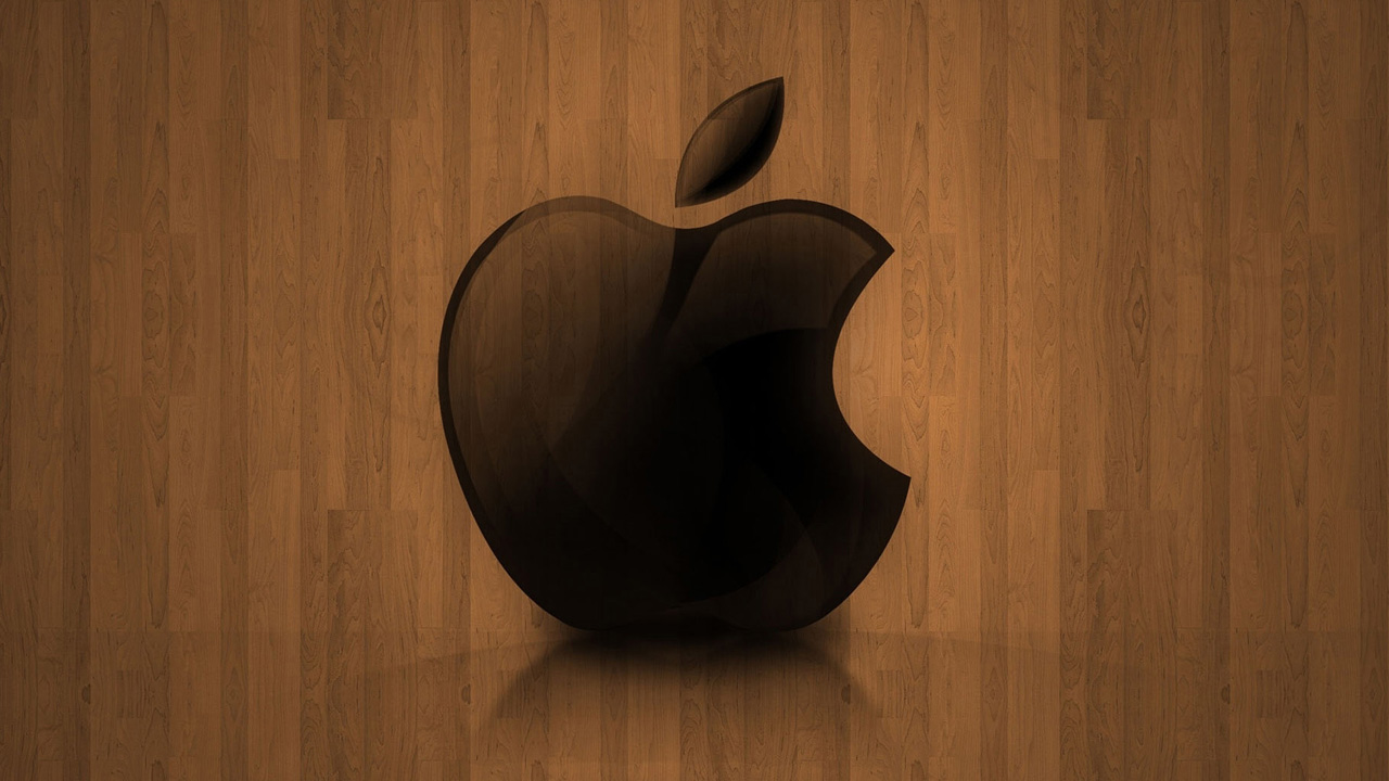 Wallpaper Wood Color Apple x Operating System Android 1280x720