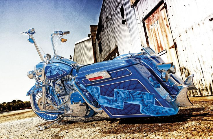 Yellow Harley Bagger  Harley Davidson  Motorcycles Background 736x482