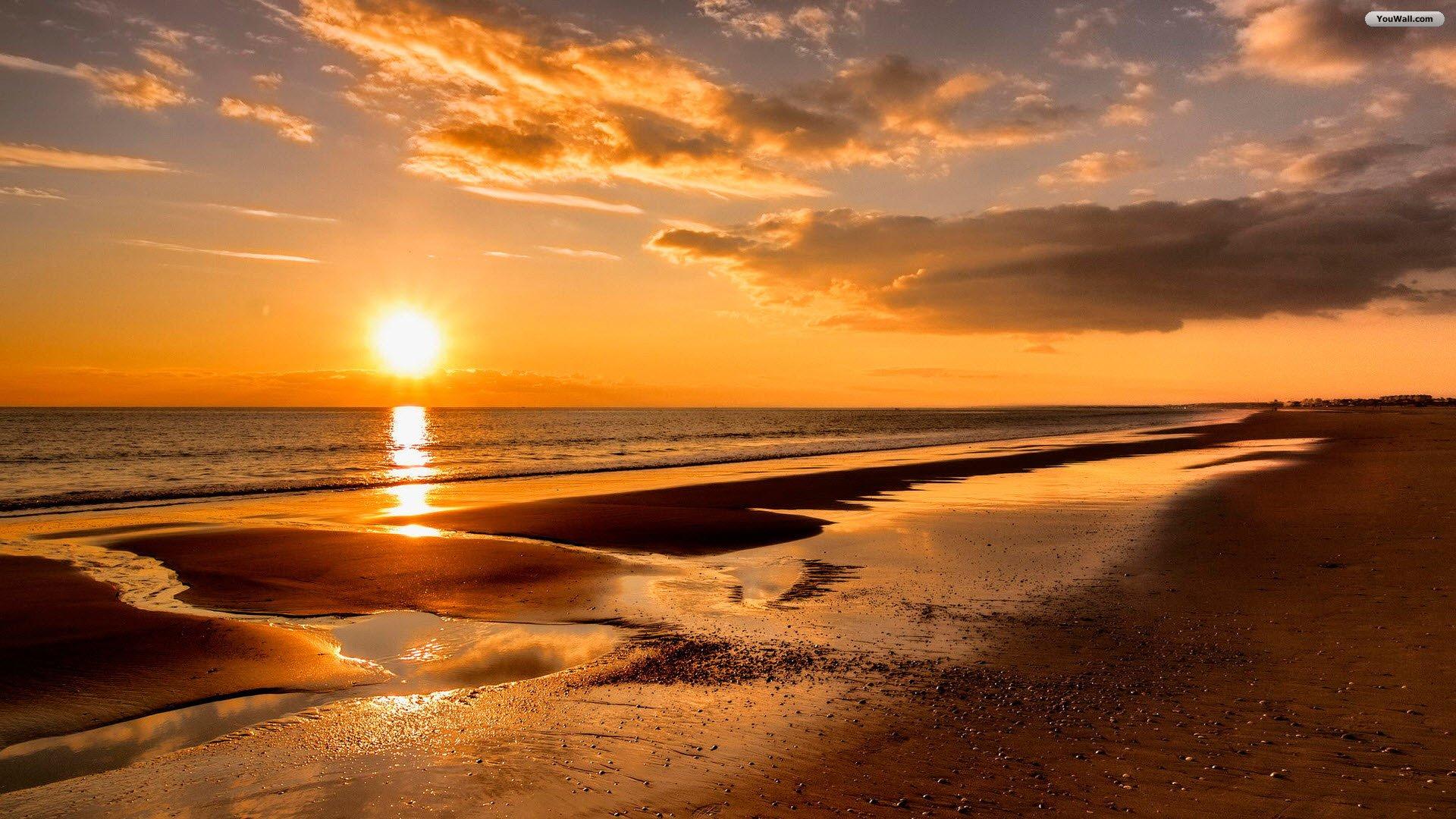 beach sunset wallpaper 1920x1080