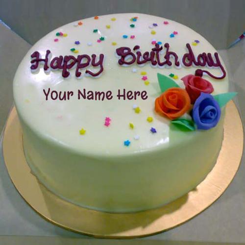 Happy Birthday Chocolate Cake With Name Editor Hd Wallpaper Full 500x500