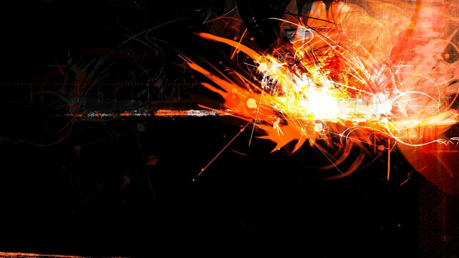 Black And Orange Backgrounds 001