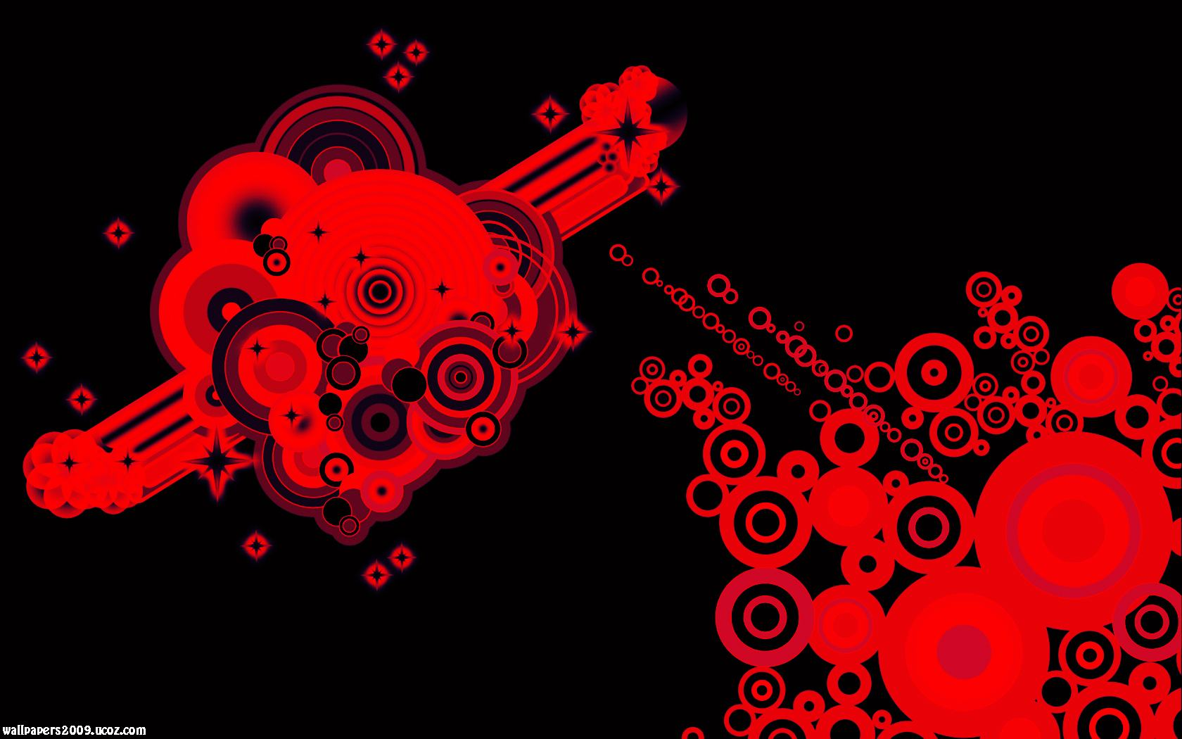 Black Red Abstract Wallpapers 1680x1050