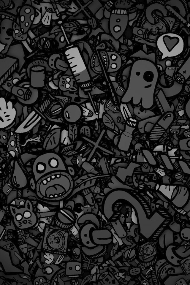 Black And White Cartoon Wallpapers 26 Wallpapers