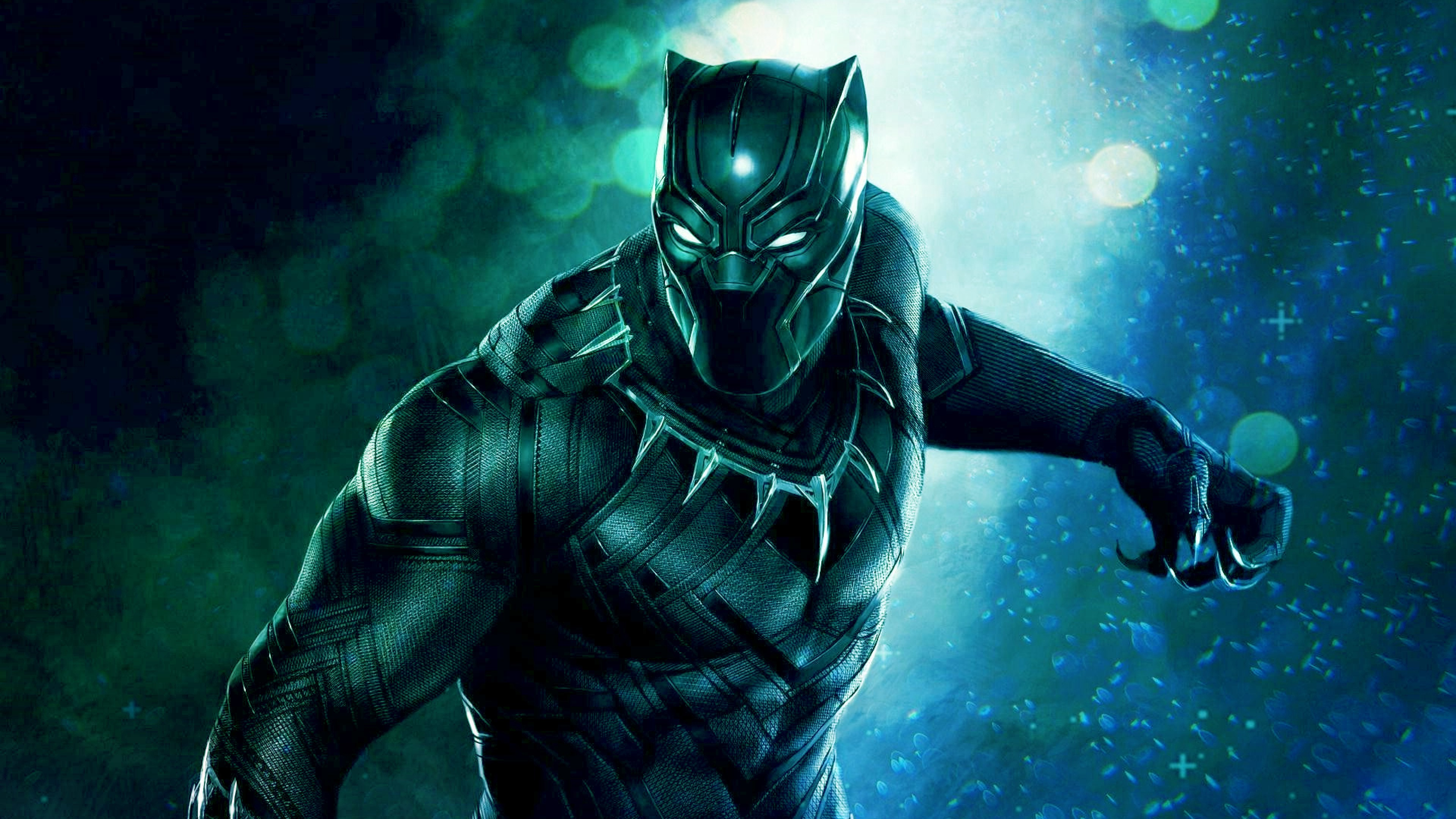 Desktop Wallpaper Black Panther Movie Superhero Pink Suit Hd