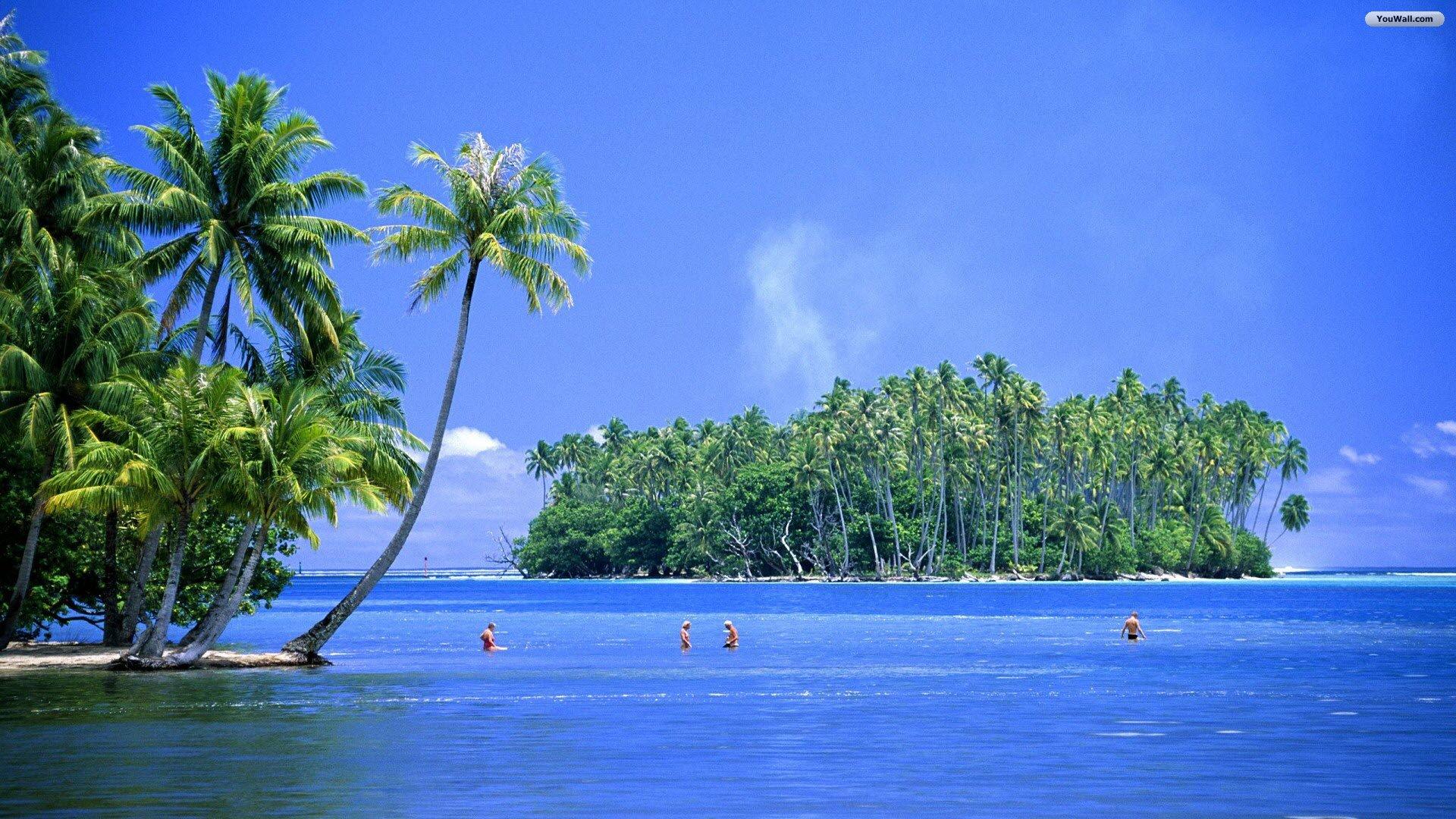youwall tahiti blue sea wallpaper wallpaper,wallpapers,free 1920x1080