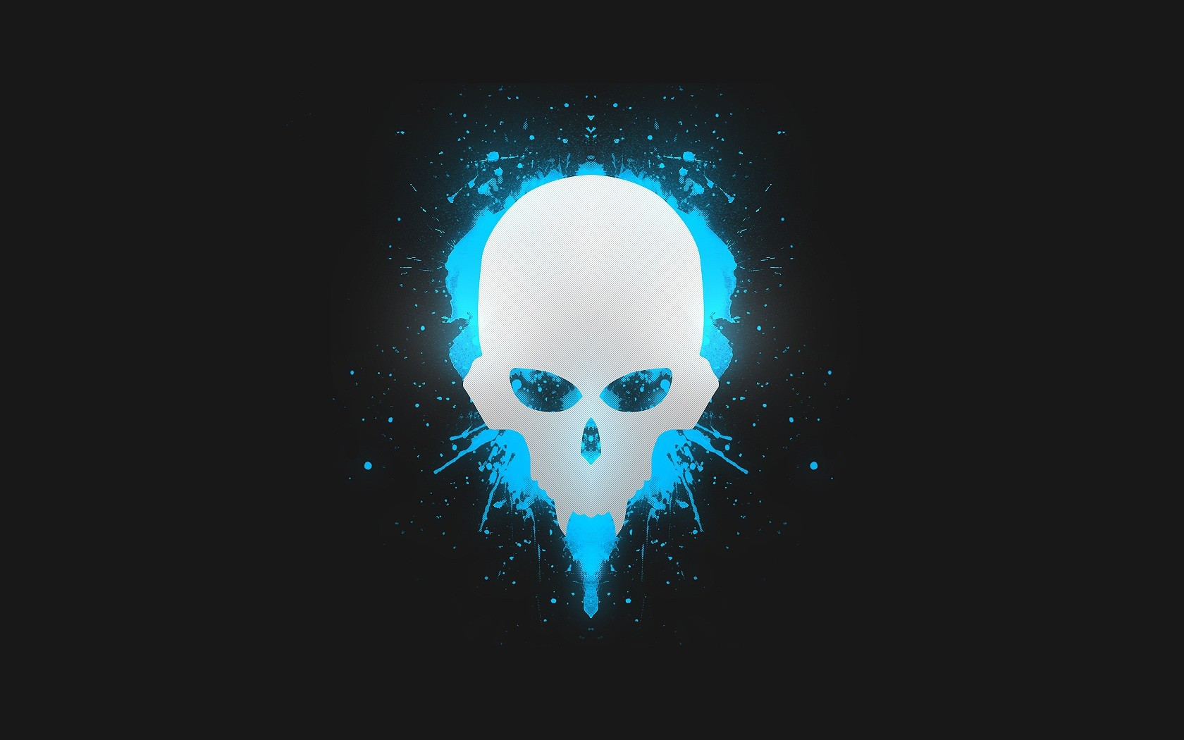 blue wallpaper skull - photo #11