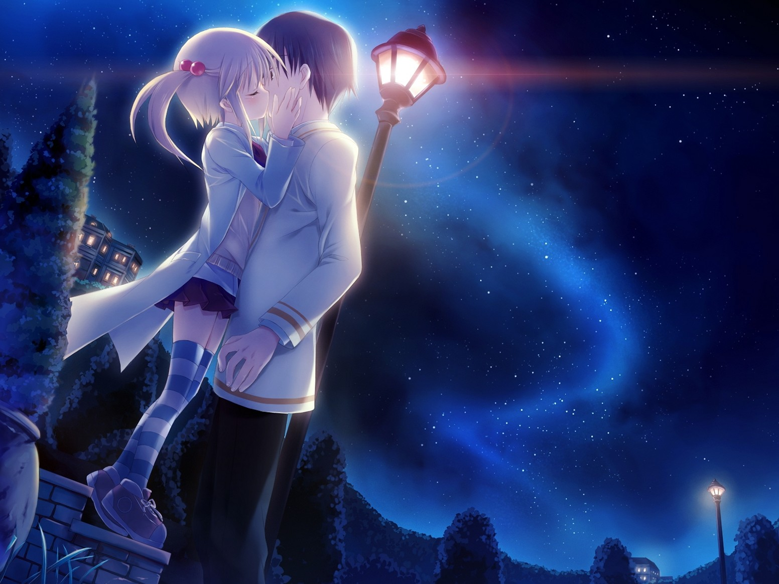 Anime Boy And Girl In Love Wallpaper : Boy Girl Kiss Wallpapers (40 Wallpapers) Adorable Wallpapers
