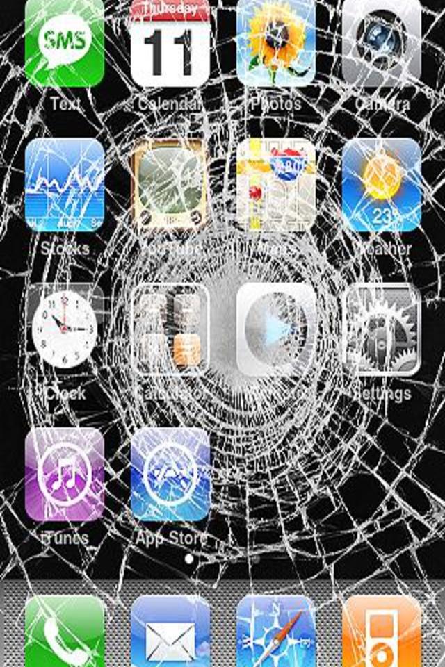 Apple Iphone  Broken Screen