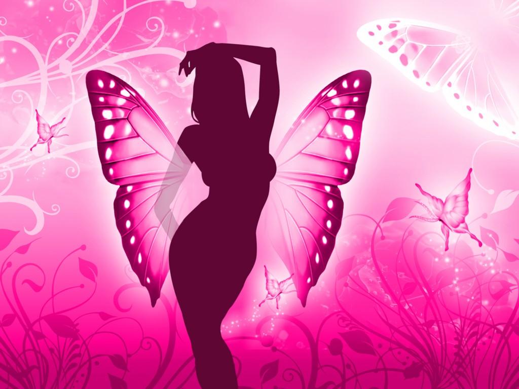 Любовные открытки для девушки с бабочками