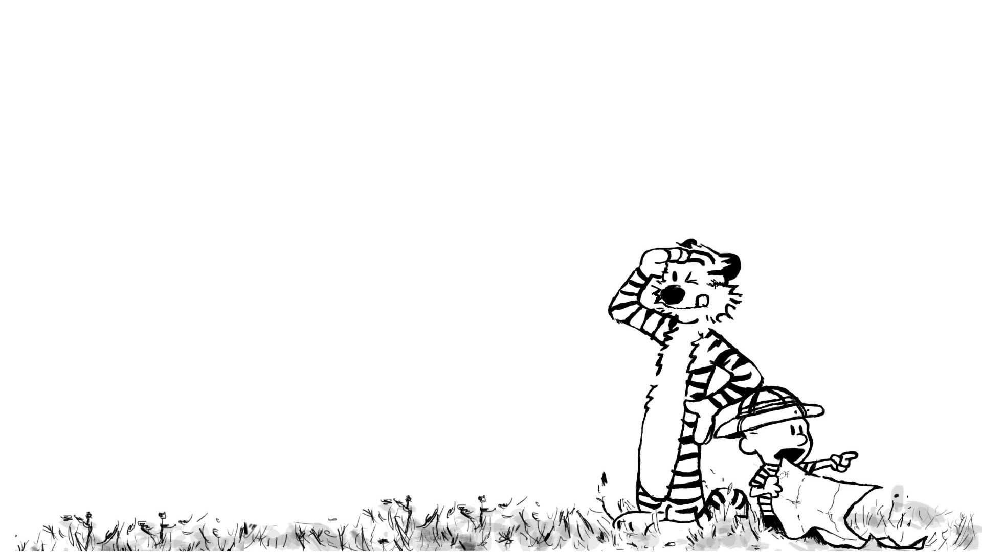 Calvin And Hobbes Stars Wallpaper 1920x1080