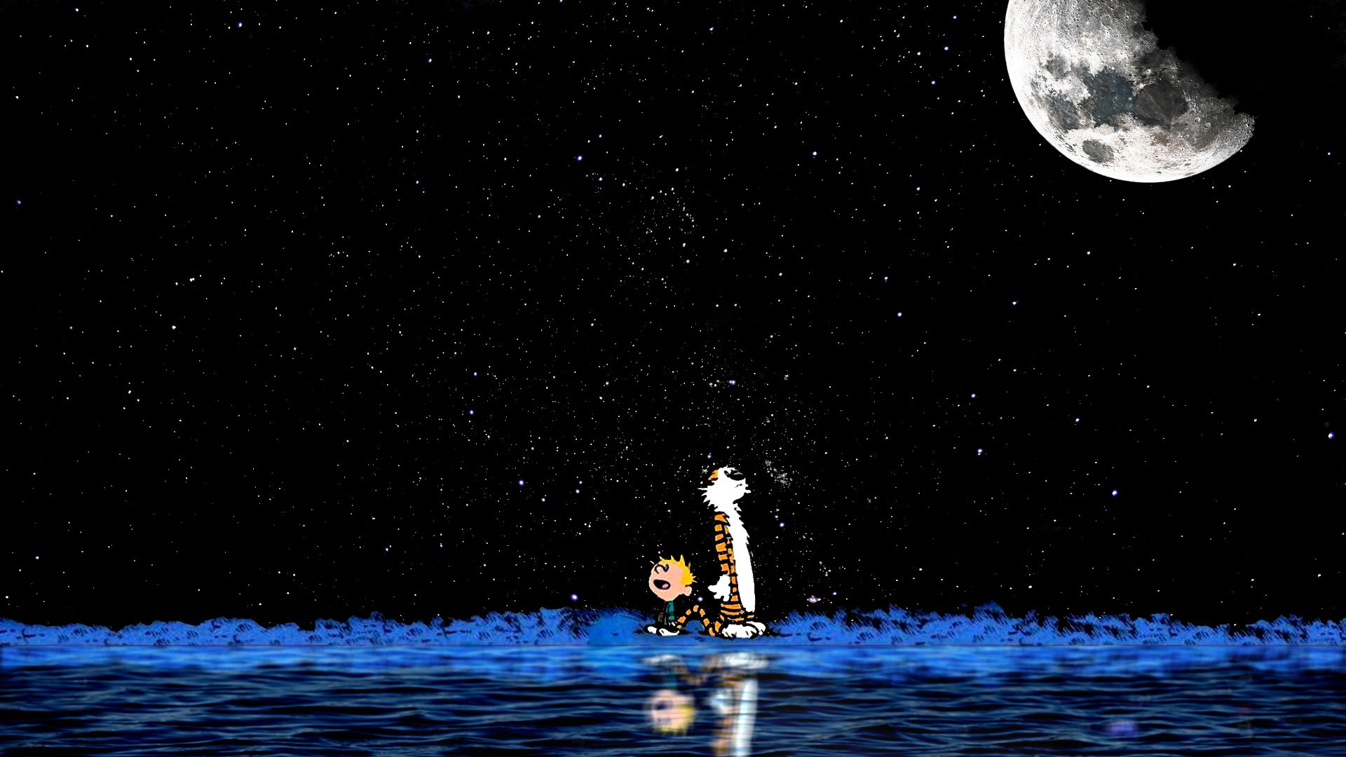 Calvin And Hobbes Wallpapers 1920x1080 45 Wallpapers on Star Wars Space