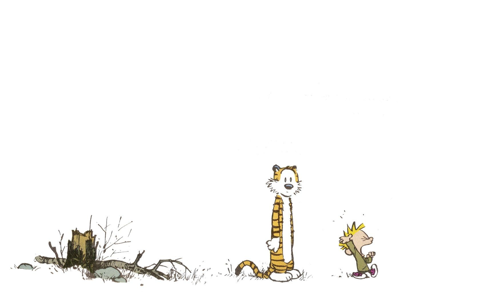 Space Stars Blue Comics Calvin And Hobbes Wallpapers Hd 1680x1050
