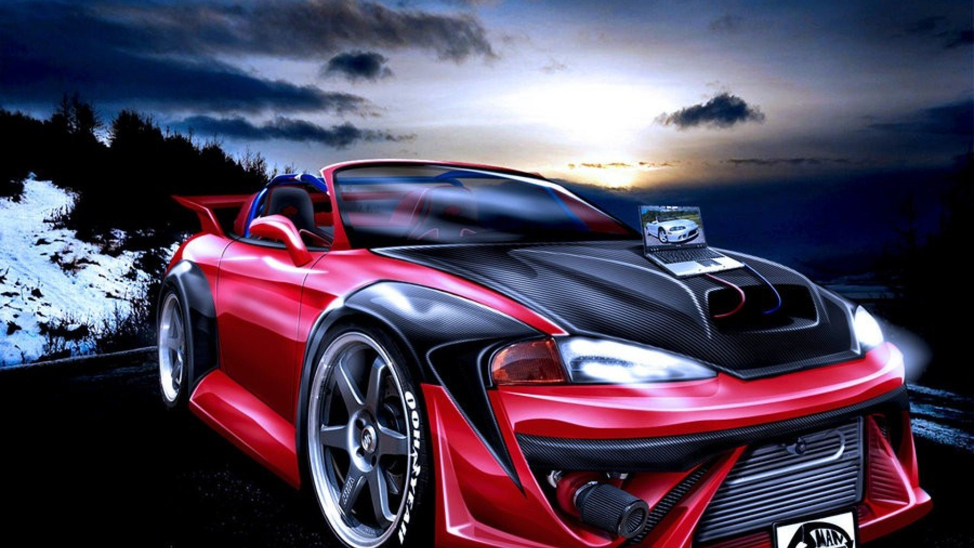 Group Of 3d Auto Wallpaper