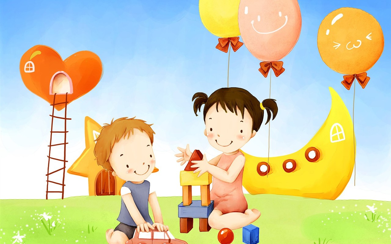 Детские открытки с дружбой